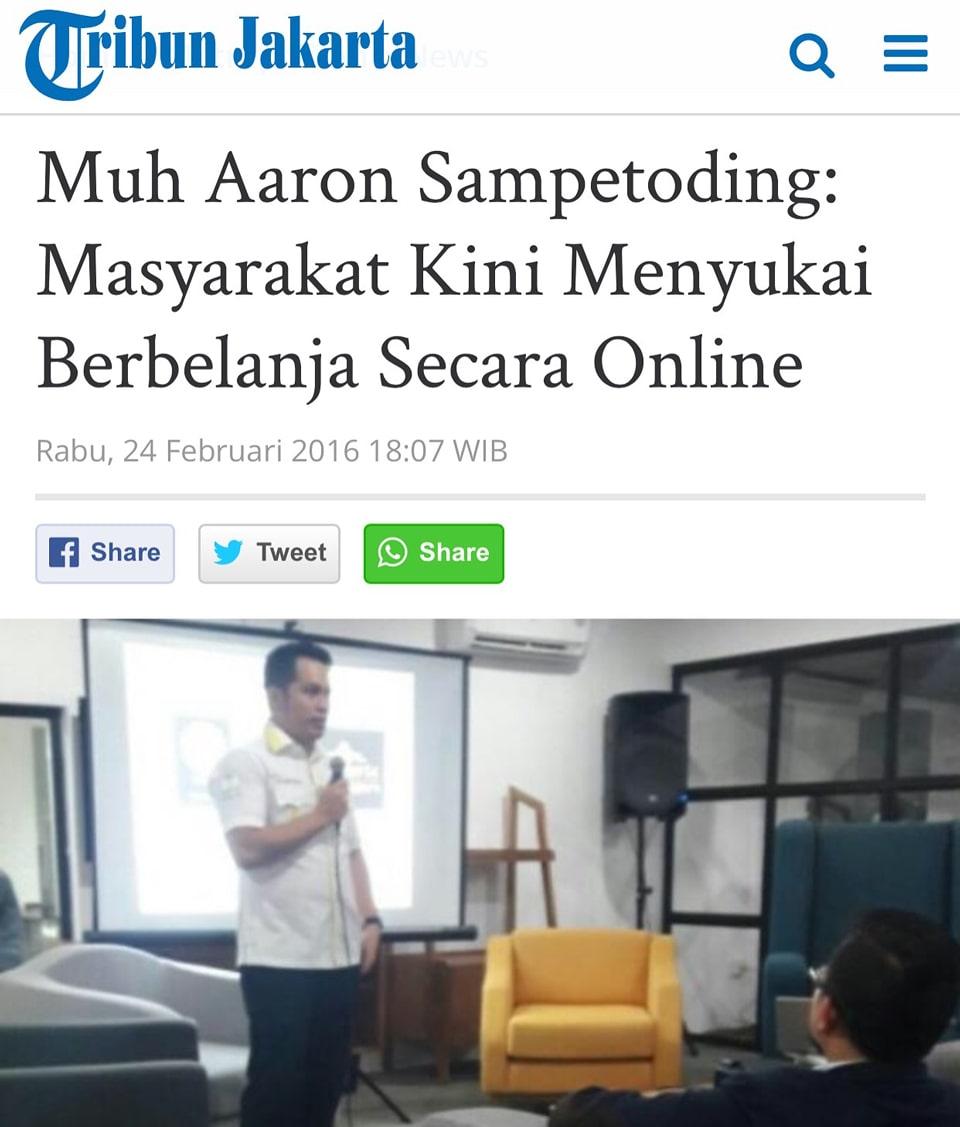 Bapak Aaron Annar di Tribun Jakarta